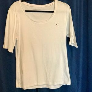 Tommy Hilfiger White 3/4 Length Top